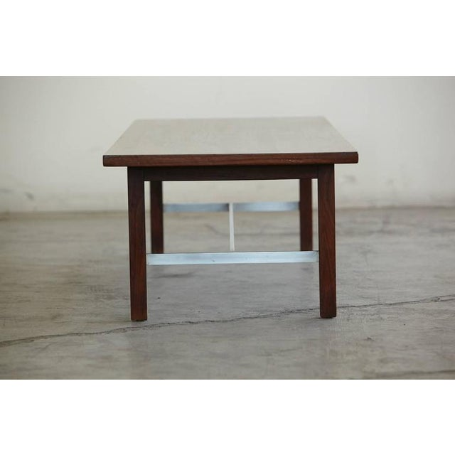 Calvin Furniture Paul McCobb Walnut and Aluminum Coffee Table for Calvin Furniture For Sale - Image 4 of 9