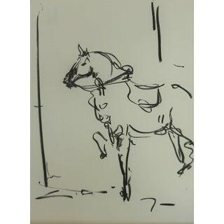 "Jose Trujillo ""Horse Equestrian"" Drawing For Sale"