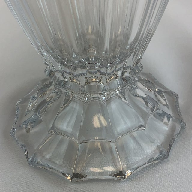 Transparent Shannon Crystal Fluted Vase For Sale - Image 8 of 10