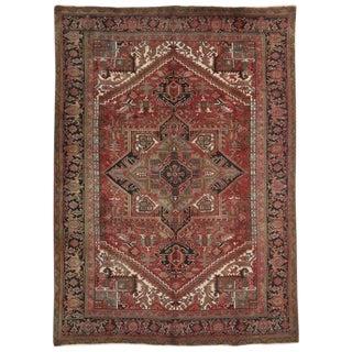20th Century Persian Heriz Area Rug - 8′1″ × 11′2″ For Sale