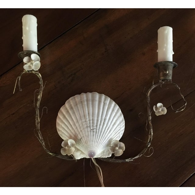 Shell Sconces - Pair - Image 3 of 8