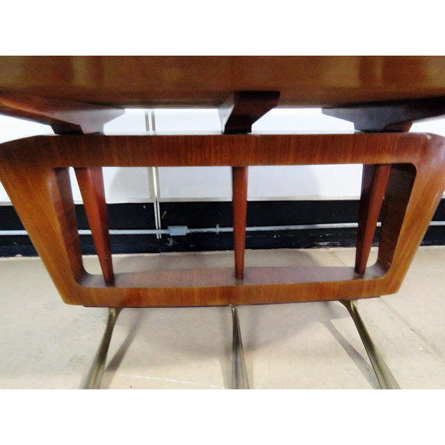 Italian Modern Walnut Dining Table For Sale - Image 4 of 11