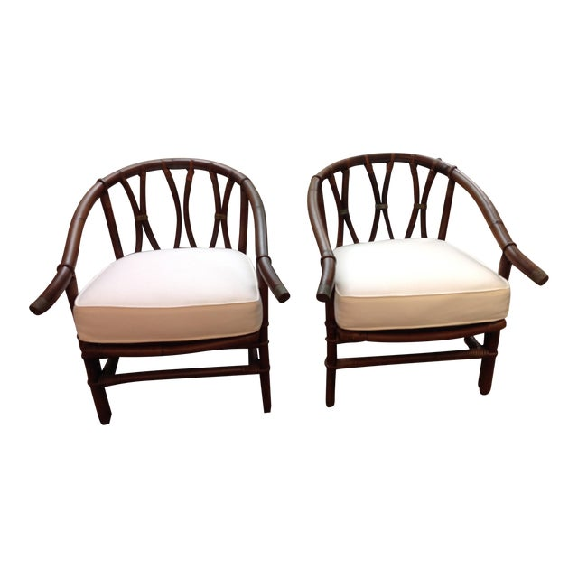 1970s Mid-Century Modern Ficks-Reeds Reed Side Chairs Designed by J. Wisner For Sale