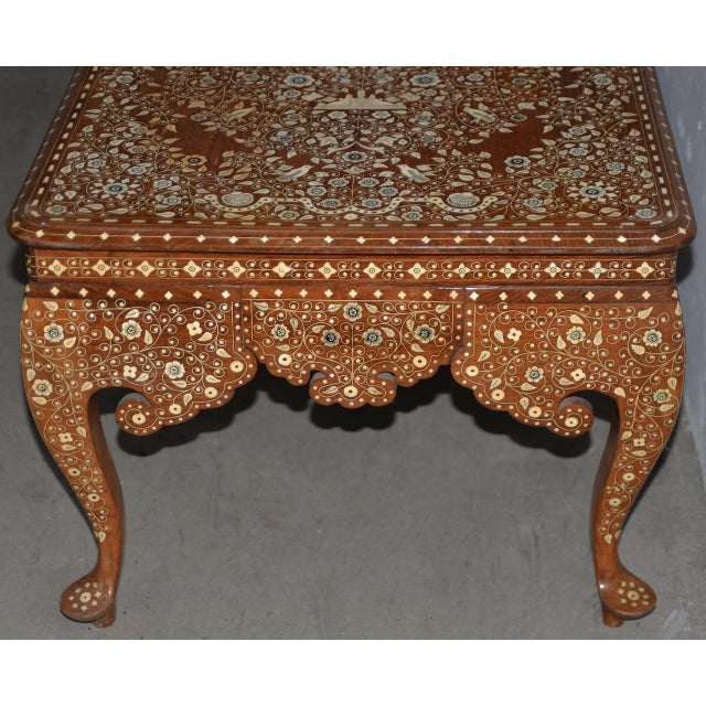 Early to Mid 20th Century Anglo Indian Inlay Coffee Table For Sale In San Francisco - Image 6 of 10