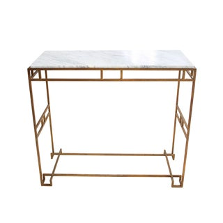 Cabrera Marble and Brass Console