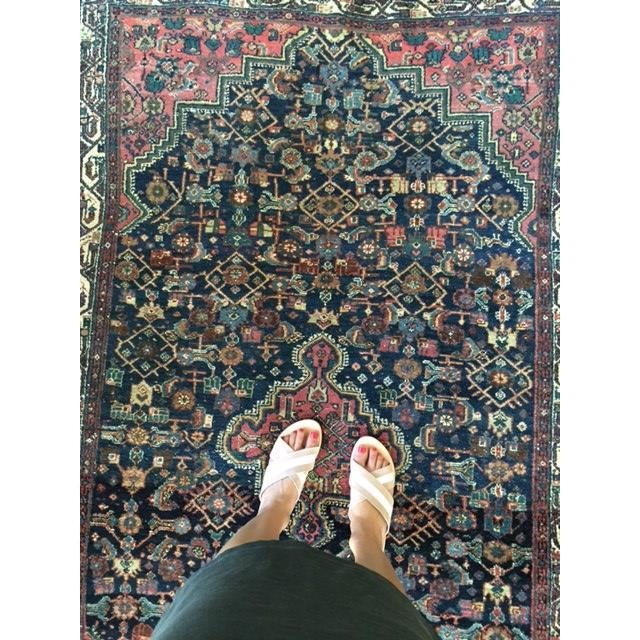 """Antique Persian Rug - 4'1"""" x 6'10"""" - Image 7 of 8"""