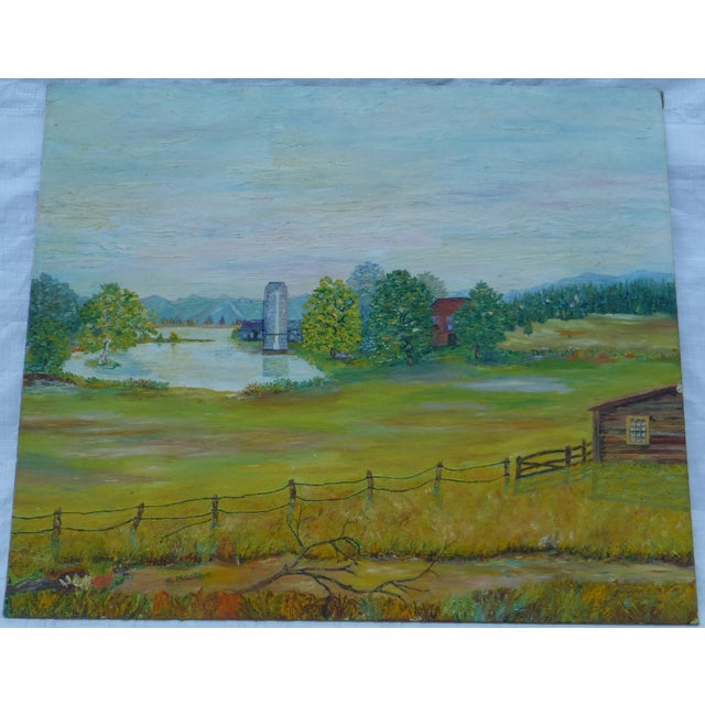 Mid Century Farm Painting by H.L. Musgrave - Image 2 of 7