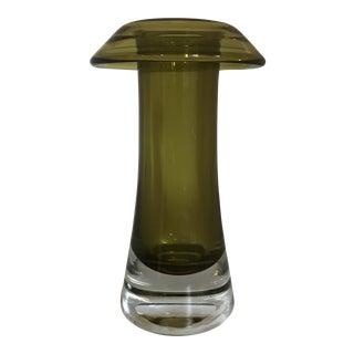 Mid Century Modern Scandinavian Glass Vase For Sale