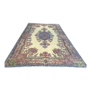 Antique Persian Kerman Large Rug - 9′8″ × 18′3″ For Sale