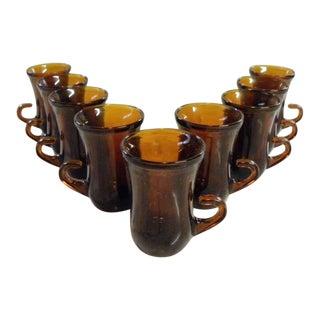 Vintage Mid Century Gala Cafe Espresso Glasses - Set of 9 For Sale