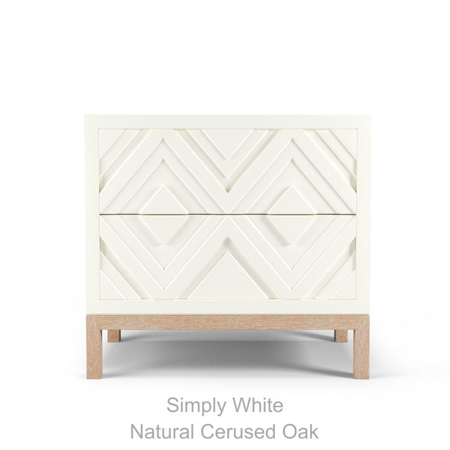 Contemporary Susana Side Table - Coral Dust, Natural Cerused Oak For Sale - Image 3 of 5