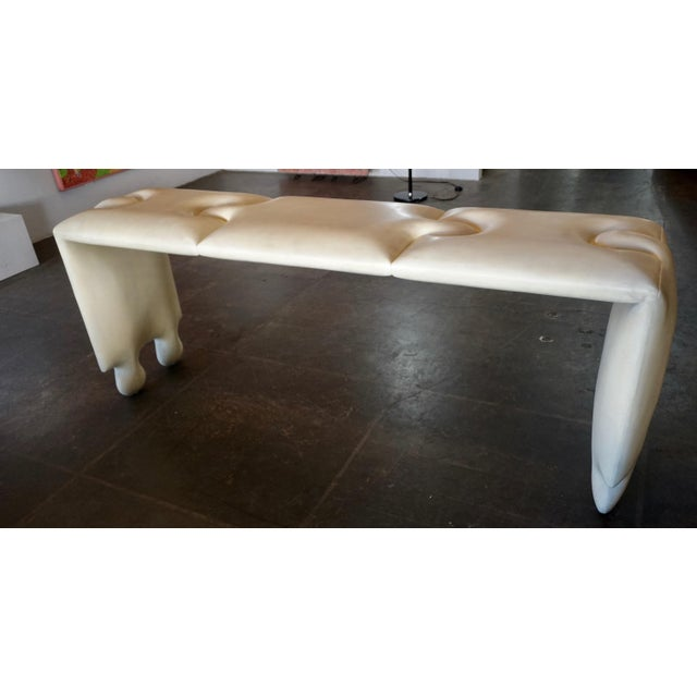 Antique White Postmodern Scala Puzzle Console Table For Sale - Image 8 of 8