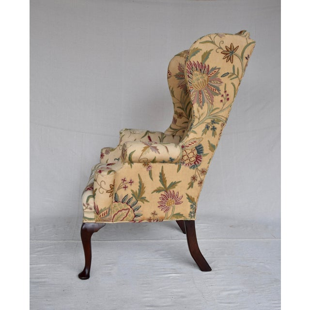English Queen Anne Style High Back Library Wingchair, Circa 1910 For Sale In Philadelphia - Image 6 of 13