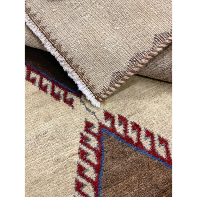 1960s Vintage Persian Gabbeh Rug - 4′2″ × 6′4″ For Sale - Image 11 of 13