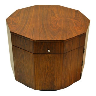 Harvey Probber Mid-Century Modern Octagonal Occasional Rosewood Table / Cabinet For Sale