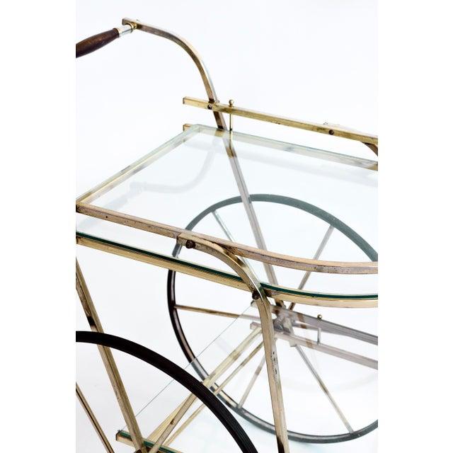 Italian Brass Bar Cart - Image 2 of 7