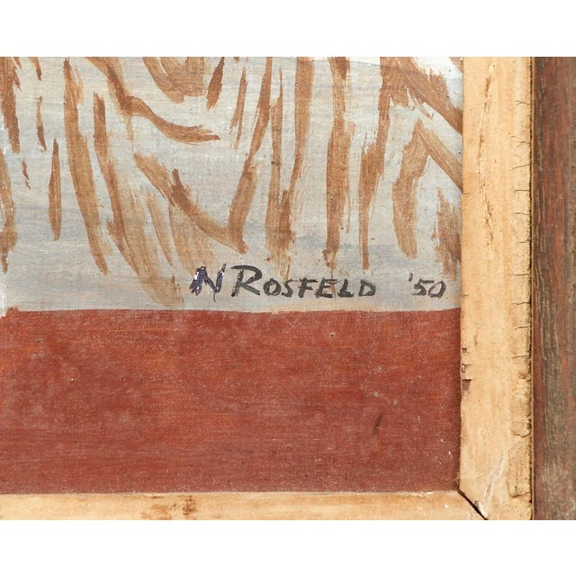 1940's Oil on Board Painting by N. Rosfeld, Framed For Sale In New York - Image 6 of 7