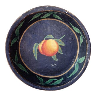 1920's Papier Mache Tray W/Pear, Italy For Sale