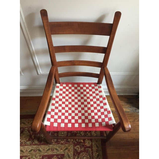 Rustic 20th Century Shaker Style Ladderback Side Chair For Sale - Image 3 of 7