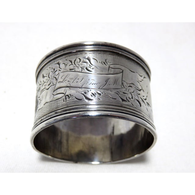 Mid 19th Century Antique American Coin Silver Napkin Ring. For Sale - Image 5 of 5