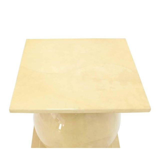 Vintage Mid Century Lacquered Parchment Pedestal Table Base For Sale - Image 6 of 8