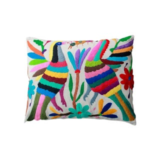 Hand-Woven Tenango Pillow