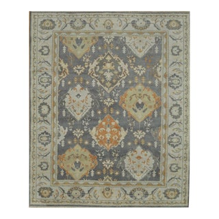 "Traditional Room Size Oushak Design Rug - 8'1"" x 9'11"""