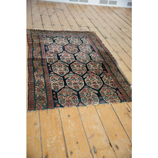 """Old New House Antique Fragment Northwest Persian Rug - 3'2"""" X 5' For Sale - Image 4 of 12"""