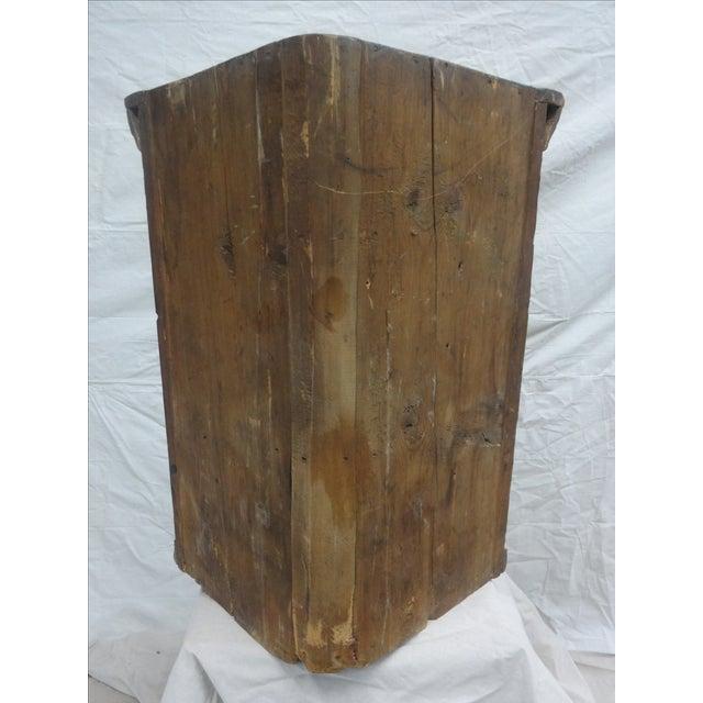 Swedish Original Painted Hanging Corner Cabinet For Sale - Image 5 of 6