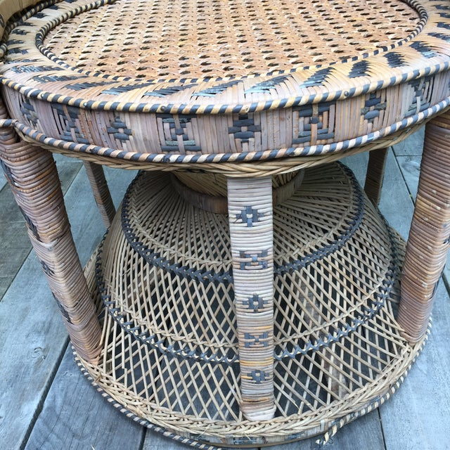 Emmanuelle Style Wicker Peacock Chair For Sale - Image 4 of 4
