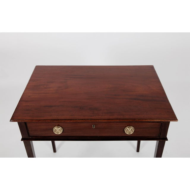 Antique English George III Mahogany Side Table For Sale In New York - Image 6 of 8