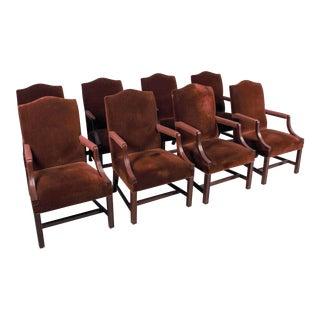 Cabot Wrenn Jefferson Mahogany Side Chairs - Set of 8