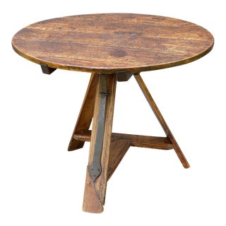 Wine Table 18th Century French Elm Wood For Sale