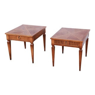 Baker Furniture Milling Road French Regency End Tables, Pair For Sale