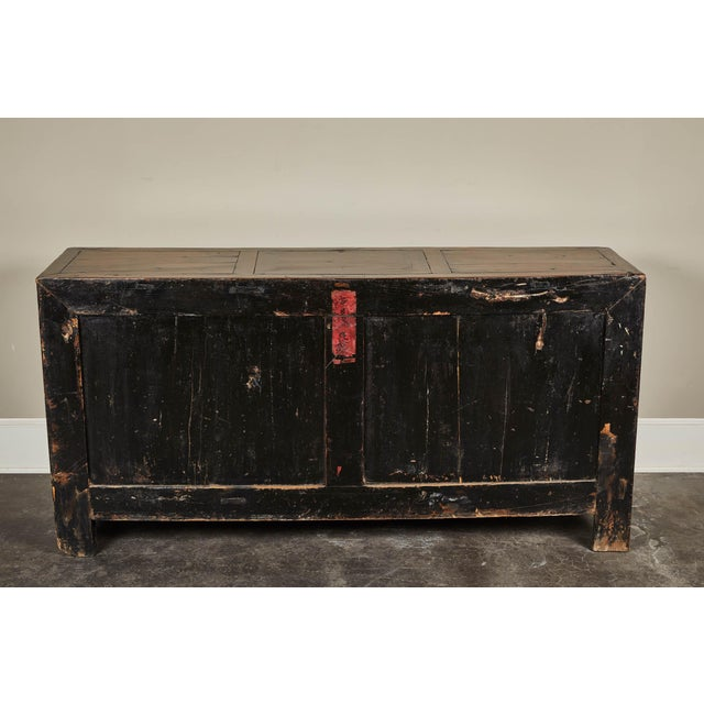 19th C. Chinese Four Door Sideboard For Sale - Image 4 of 5
