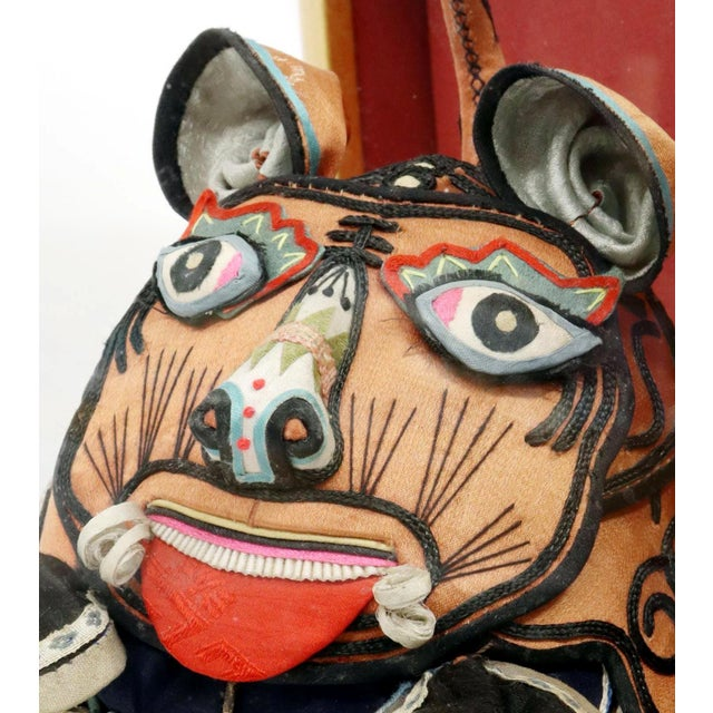 Framed Antique Chinese Child Tiger-Head Hat For Sale - Image 11 of 12
