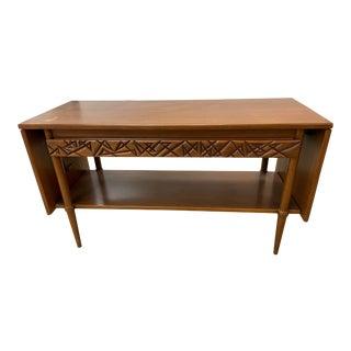 Mid Century Modern Henredon Heritage Drop Leaf Sofa Table For Sale