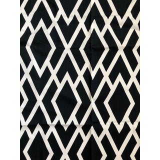 Duralee Black White Diamante Fabric - 1 Yard For Sale