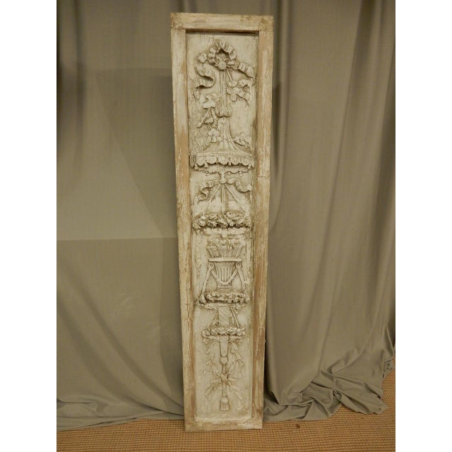 French French Classical Plaster Reliefs - a Pair For Sale - Image 3 of 7
