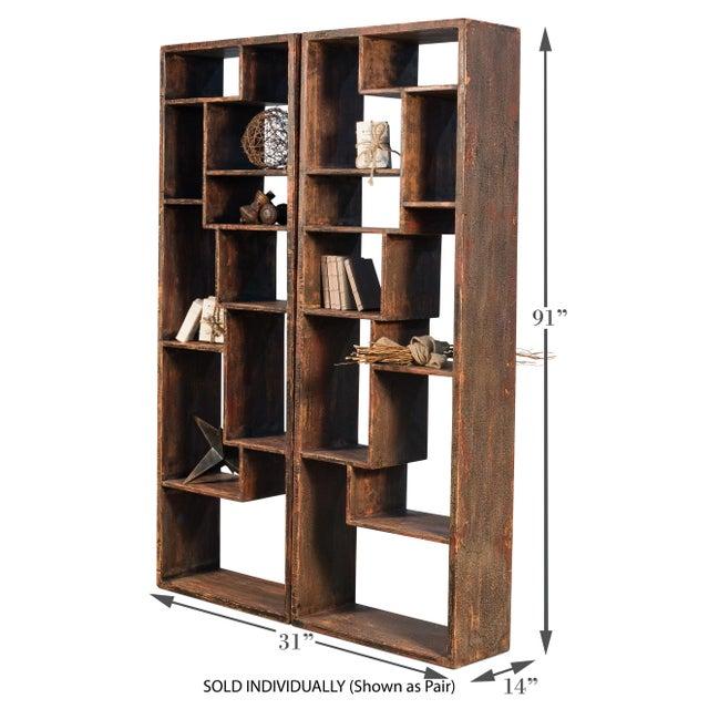 Contemporary Sarreid Wagoner Bookshelf For Sale - Image 3 of 10