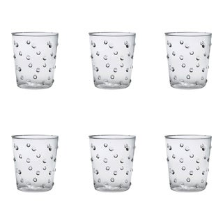 Party Tumbler in Clear Dots - Set of 6 For Sale