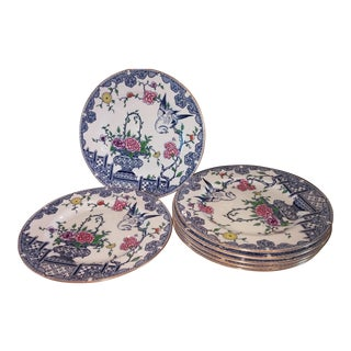 Staffordshire England Dinner Plates - Set of 7 For Sale