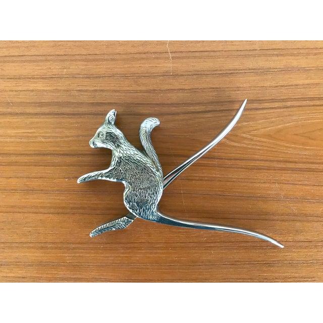 Vintage Silver Squirrel Nutcracker For Sale - Image 4 of 5