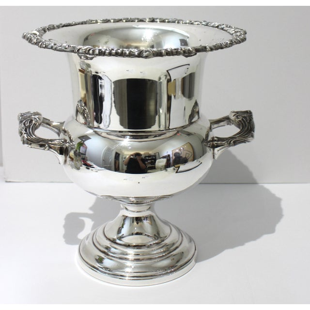 Vintage Sheridan Champagne Ic Bucket Silver Plate For Sale - Image 11 of 12