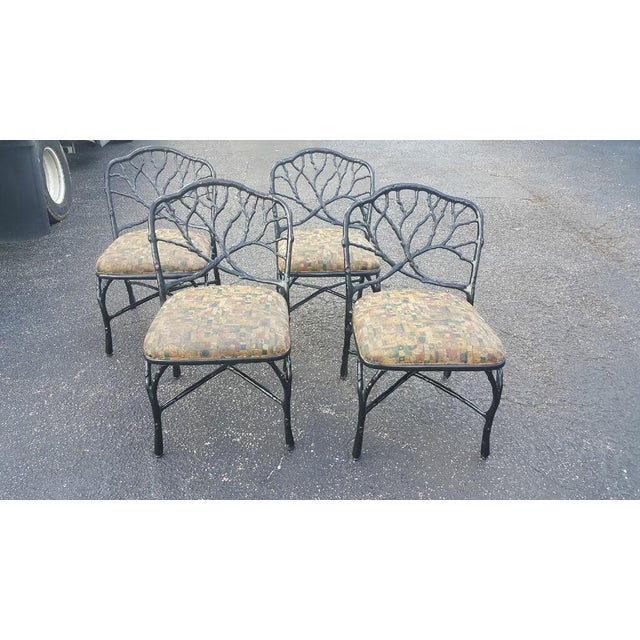 Mid 20th Century Faux Bois Dining Chairs - Set of 4 For Sale - Image 4 of 6