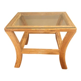 Vintage Structural Bamboo Table For Sale