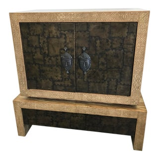 Mid-Century Modern Maitland Smith Tv Stand For Sale