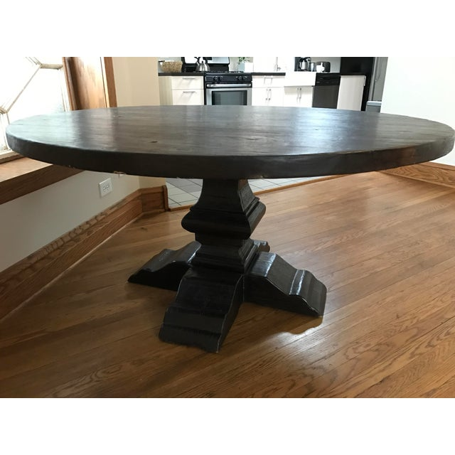 Rustic Reclaimed Elm Plank Dining Table - Image 2 of 4