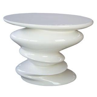 Contemporary Roche Bobie Cédric Ragot Sismic White End Table For Sale