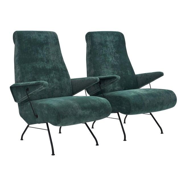 Italian Pair of Armchairs by Carlo DI Carli For Sale